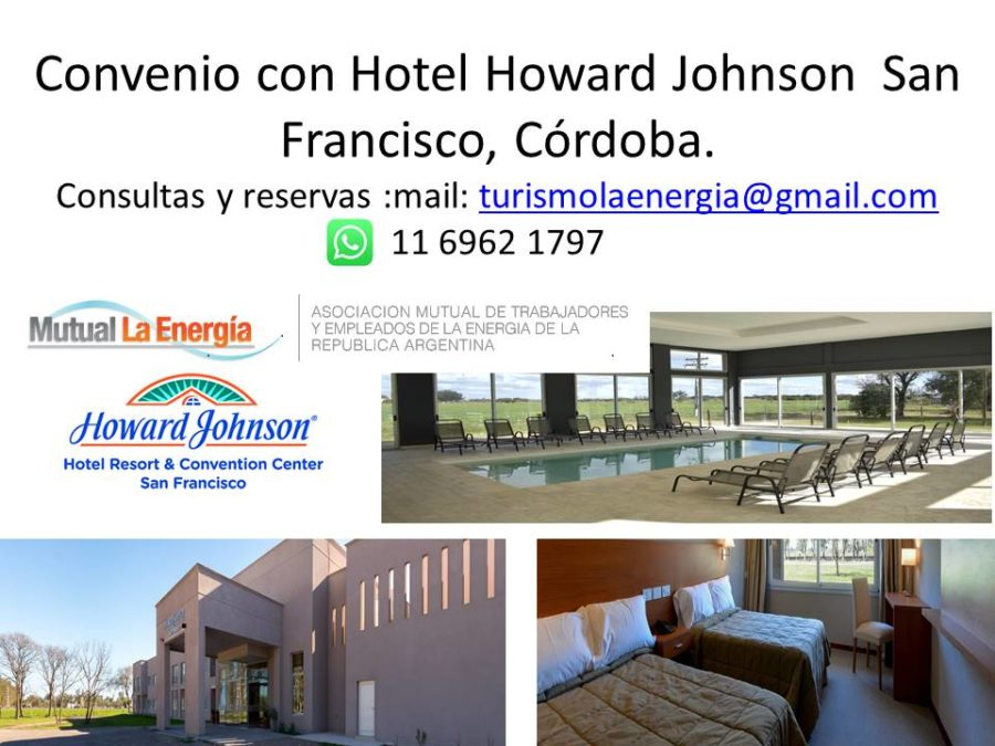 Convenio con hotel Howard Johnson San Francisco, Córdoba